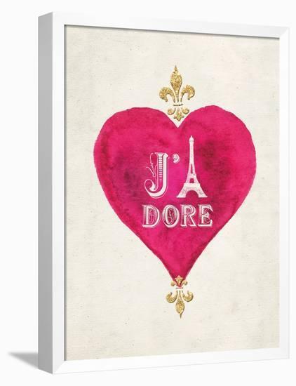 Romance Collection J'Adore-Miyo Amori-Framed Stretched Canvas Print