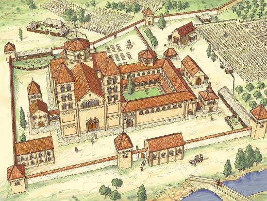 Romanesque Abbey, Model-Fernando Aznar Cenamor-Giclee Print