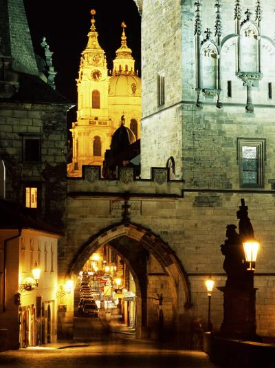 Romanesque and Gothic Malostranske Bridge Towers, Prague, Czech Republic-Richard Nebesky-Photographic Print