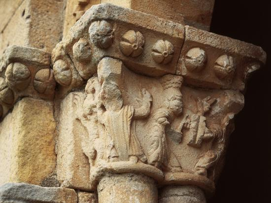 Romanesque Capital, Shrine of Saint Christopher, Spain--Photographic Print
