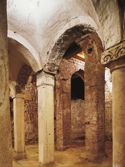 Romanesque Crypt in San Salvatore Church, Brescia, Italy, 8th-16th Century--Giclee Print