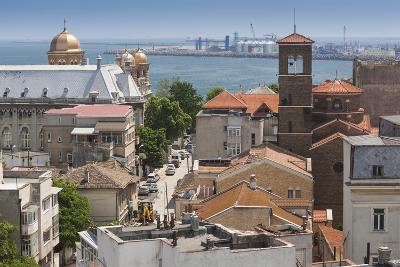 Romania, Black Sea Coast, Constanta, Elevated City View-Walter Bibikow-Photographic Print