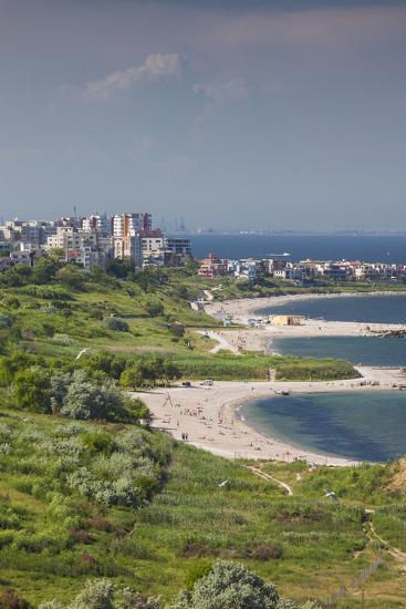 Romania, Black Sea Coast, Constanta, Modern Beach, Beachfront Building-Walter Bibikow-Photographic Print