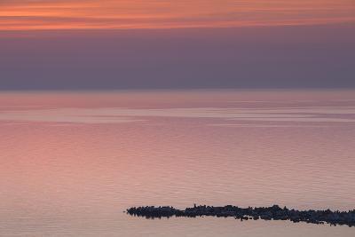 Romania, Black Sea Coast, Constanta, Modern Beach, Elevated View, Dawn-Walter Bibikow-Photographic Print