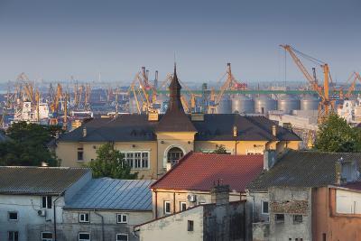 Romania, Black Sea Coast, Constanta, View of the Constanta Port, Dawn-Walter Bibikow-Photographic Print