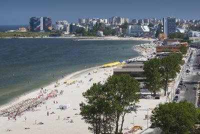 Romania, Black Sea Coast, Mamaia, Elevated Beach View-Walter Bibikow-Photographic Print