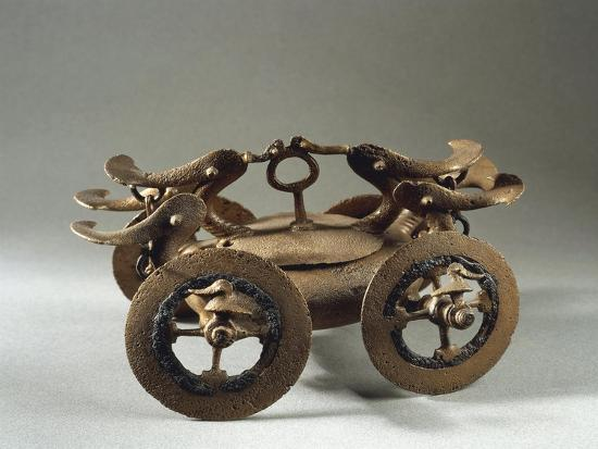 Romania, Bujoru, Ritual Chariot, Bronze--Giclee Print