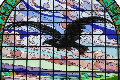 Romania, Crisana, Oradea, Black Eagle Arcade, Stained Glass Window-Walter Bibikow-Photographic Print