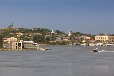 Romania, Danube River Delta, Tulcea, Danube River Waterfront-Walter Bibikow-Photographic Print