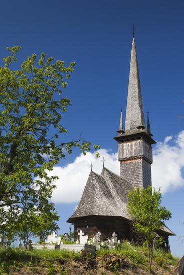Romania, Maramures Region, Plopis, Greco-Catholic Wooden Church-Walter Bibikow-Photographic Print