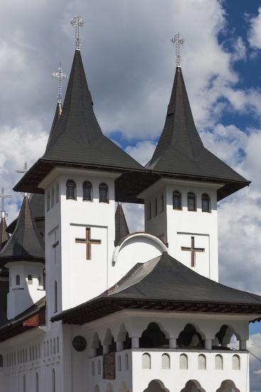Romania, Maramures Region, Rodna Mountains NP, Orthodox Monastery-Walter Bibikow-Photographic Print