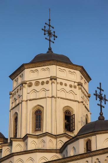 Romania, Moldavia, Iasi, Golia Monastery, Exterior, Sunset-Walter Bibikow-Photographic Print