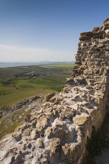 Romania, Sarichioi, Ruins of Cetatea Heracleea de La Enisala Fortress-Walter Bibikow-Photographic Print