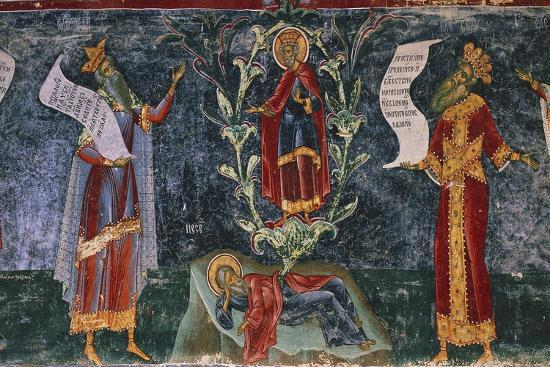 Romania, Sucevita Monastery, Tree of Jesse, Detail from the Cycle of Frescoes--Giclee Print