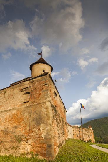 Romania, Transylvania, Brasov, Brasov Citadel, Sunset-Walter Bibikow-Photographic Print