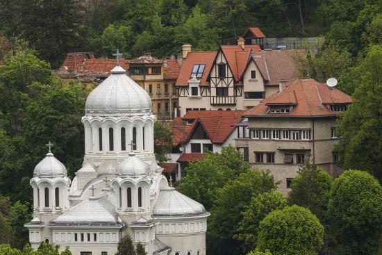 Romania, Transylvania, Brasov, Buna Vestire Orthodox Church-Walter Bibikow-Photographic Print