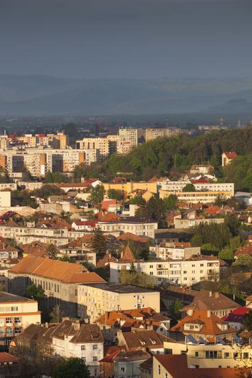 Romania, Transylvania, Brasov, New City Buildings, Sunset-Walter Bibikow-Photographic Print