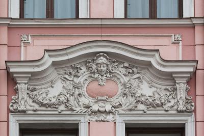 Romania, Transylvania, Brasov, Romanian National Bank Building-Walter Bibikow-Photographic Print