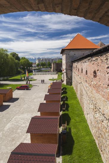 Romania, Transylvania, Fagaras, Fagaras Citadel, Exterior View-Walter Bibikow-Photographic Print