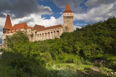 Romania, Transylvania, Hunedoara, Corvin Castle, Late Afternoon-Walter Bibikow-Photographic Print