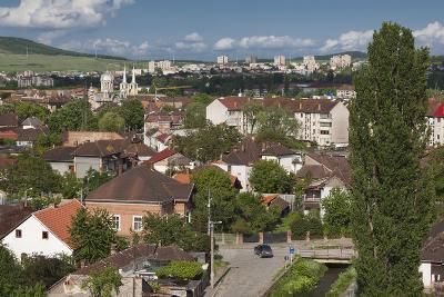 Romania, Transylvania, Hunedoara, Elevated View from Corvin Castle-Walter Bibikow-Photographic Print