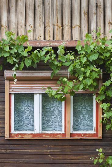 Romania, Transylvania, Sibiel, Window Detail-Walter Bibikow-Photographic Print
