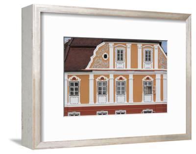 Romania, Transylvania, Sibiu, Piata Mare Square, Building Detail-Walter Bibikow-Framed Photographic Print
