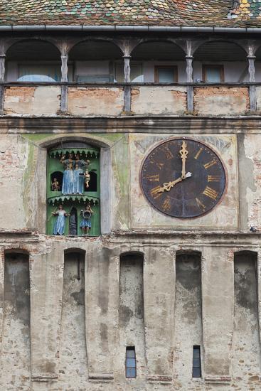 Romania, Transylvania, Sighisoara, Clock Tower, Built in 1280-Walter Bibikow-Photographic Print