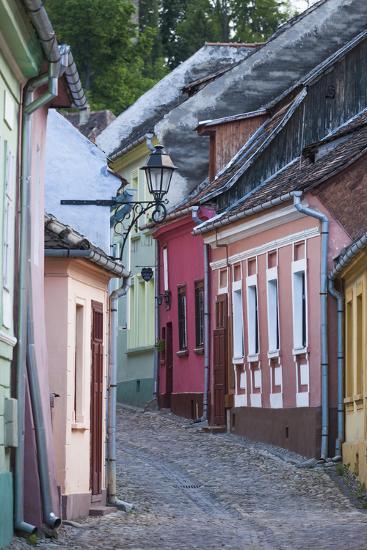 Romania, Transylvania, Sighisoara, Old Town Building Details-Walter Bibikow-Photographic Print