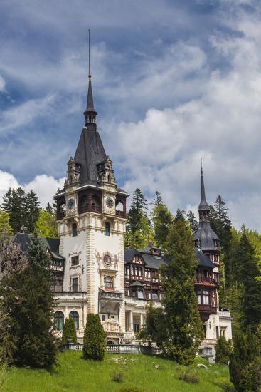 Romania, Transylvania, Sinaia, Peles Castle, Built 1875-1914-Walter Bibikow-Photographic Print