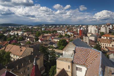 Romania, Transylvania, Targu Mures, Elevated City View-Walter Bibikow-Photographic Print