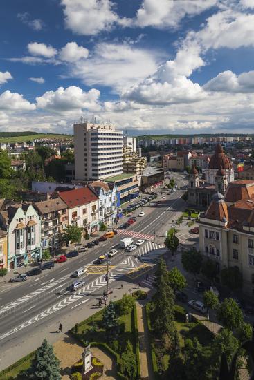 Romania, Transylvania, Targu Mures, View Toward Piata Victoriei Square-Walter Bibikow-Photographic Print