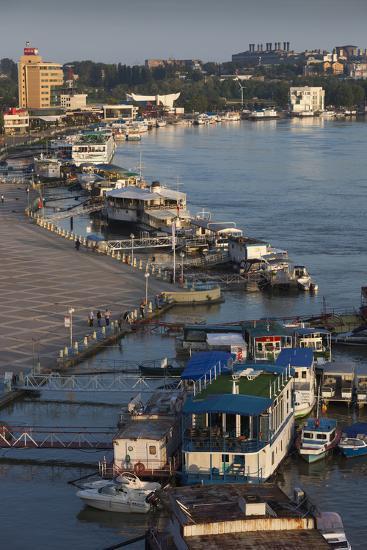 Romania, Tulcea, the Tulcea Port on the Danube River, Dawn-Walter Bibikow-Photographic Print