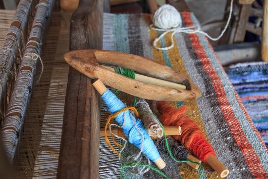 Romania, Vatra Modovitei. Ciumarna village. Weaving tools of the trade.-Emily Wilson-Premium Photographic Print