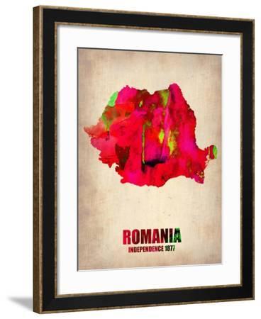 Romania Watercolor Poster-NaxArt-Framed Art Print