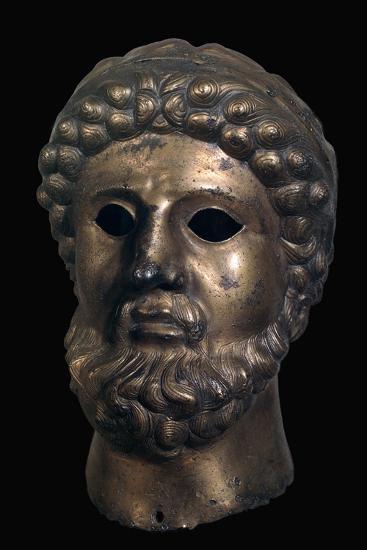 Romano-British bronze head, 2nd century-Unknown-Giclee Print