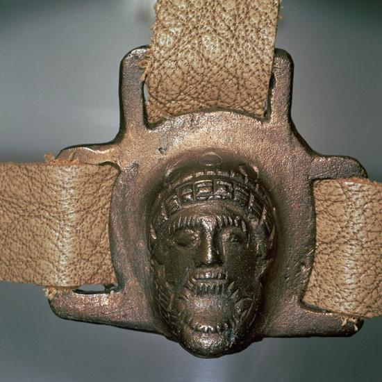 Romano-British bronze mount with mask, 2nd century-Unknown-Giclee Print