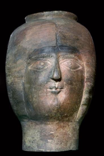 Romano-British pot in the form of a head. Artist: Unknown-Unknown-Giclee Print