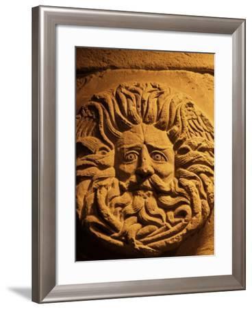 Romano-Celtic Gorgon's Head, Roman Baths, Bath, Avon, England, United Kingdom-Michael Jenner-Framed Photographic Print