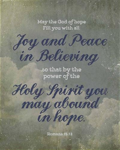 Romans 15:13 Abound in Hope (Clouds)-Inspire Me-Art Print