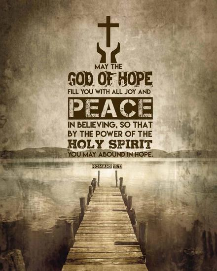 Romans 15:13 Abound in Hope (Sepia)-Inspire Me-Art Print