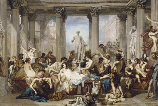 Romans During the Decadence, 1847-Thomas Couture-Giclee Print