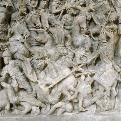 Romans in Battle Against the Barbarians, 2nd Century--Photographic Print