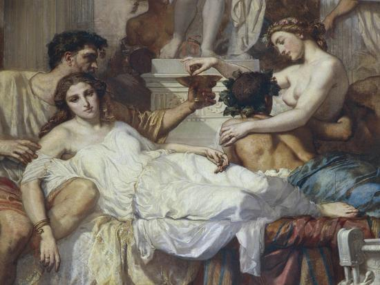 Romans of Decadence, 1847-Thomas Couture-Giclee Print