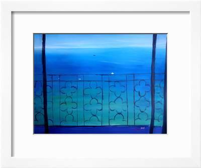 Romantic Balcony In The Mediterranean Art Print M Bleichner Art Com