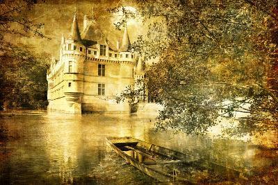 Romantic Castle - Artistic Toned Picture In Retro Style-Maugli-l-Art Print
