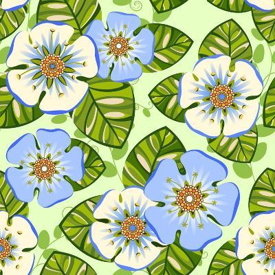 Romantic Floral Seamless Pattern-dNaya-Art Print