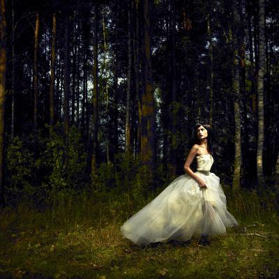 Romantic Girl in Fairy Forest-George Mayer-Photographic Print