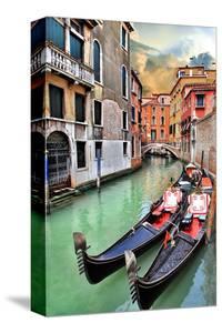 Romantic Gondola Venice Scene