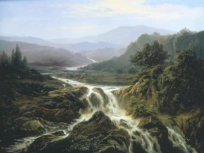 Romantic Landscape-Edouard De Vigne-Giclee Print